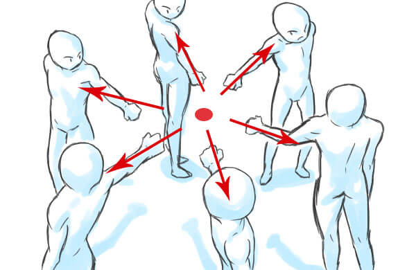 中心構図-補助線