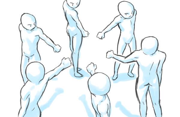 漫画イラスト魅力ある構図の作り方実践的な例11パターン