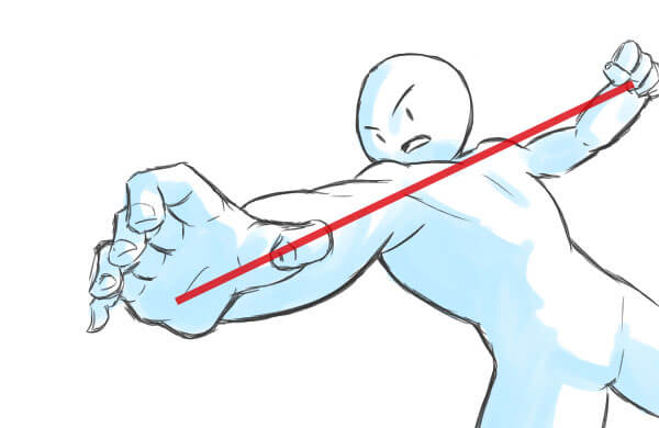 ナナメ構図-補助線