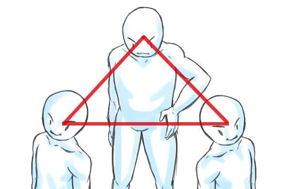 三角構図-補助線