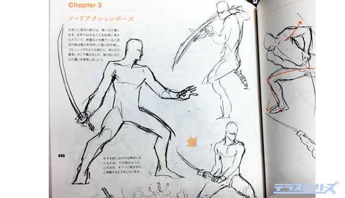 剣劇アクションポーズ