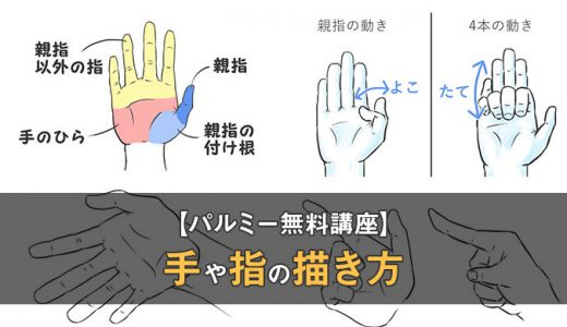 【パルミーの講座体験レビュー】手や指を描くコツは4つのパーツを意識すること