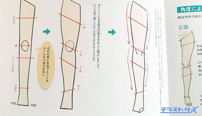 脚の描き方