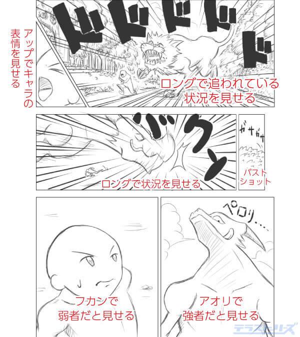 漫画の構図使用例1-1