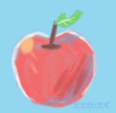 主線なしのイラストリンゴ
