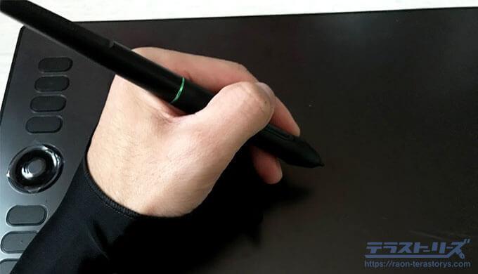 parblo-a610proの手袋着用
