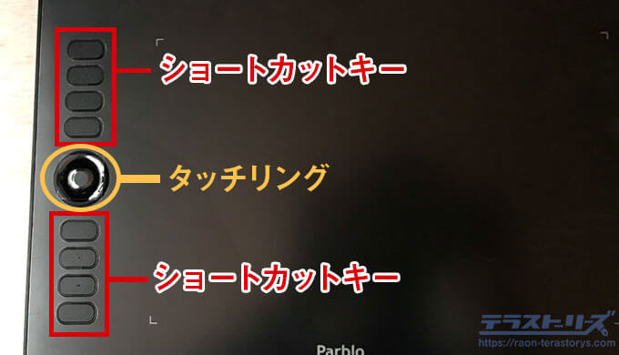 parblo-a610proのショートカットキー
