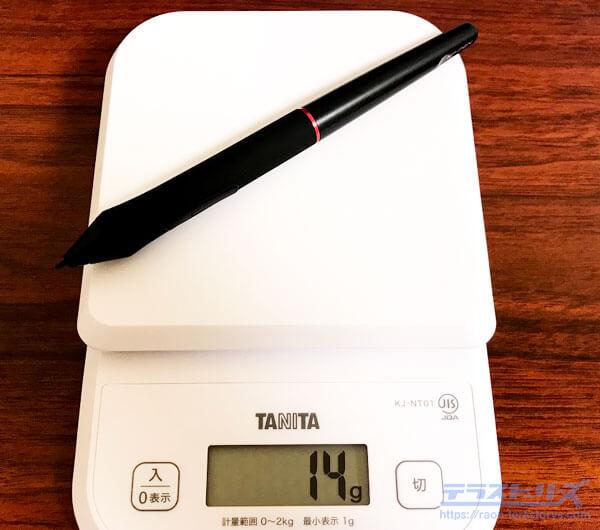 artist13proのペンの重さ