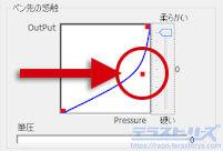 xp-penのかかる筆圧が強い設定